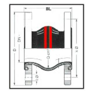 Gummikompensator Typ 1 HP - Heißwasser