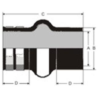 Gummikompensator Typ 3K