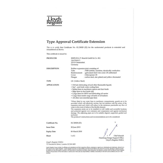 Llyod´s Register Approval Certificate No. 03/20028