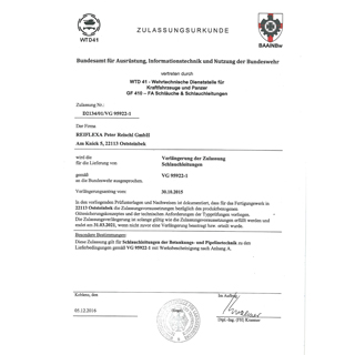 Germanischer Llyod Certificate 85 324 - 81 HH