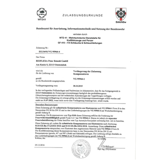Llyod´s Register Approval Certificate No. 03/20029